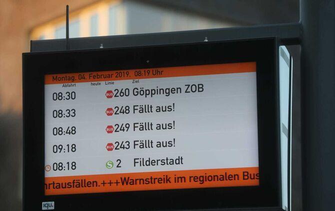 Busstreik Ludwigsburg
