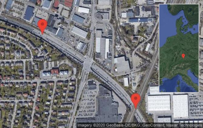 Augsburg: Verkehrsproblem auf Oberbürgermeister-Müller-Ring zwischen Messe/Uni und Göggingen-Ost/Ausfahrt Eichleitner Straße in Richtung Augsburg